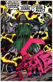 See that little dude crawling out of the wreckage? Yeah, that's just Galactus, is all. Doom made him tiny and human, JUST BECAUSE.