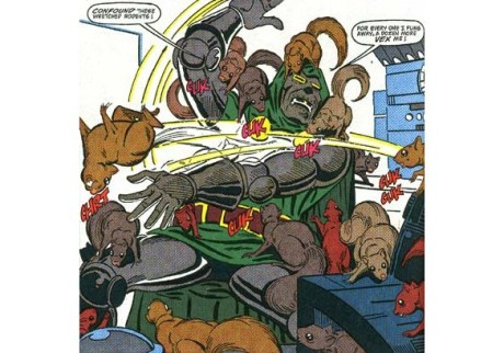 Dr. Doom... defeated by squirrels...