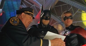 Batman and Robin talking to the Commissioner
