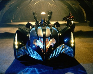 Batman and Robin - Batmobile and Red Bird bike