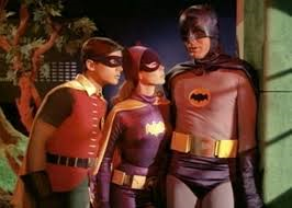"Batman, Robin, and Batgirl in ""Batman & Robin"" ...no, wait. Sorry, this is much better than ""Batman & Robin"""