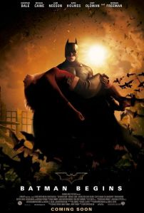 Batman Begins - poster with Katie Holmes