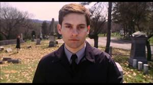 Peter Parker - funeral scene