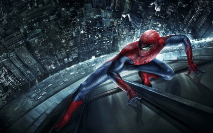 Spidey above the city