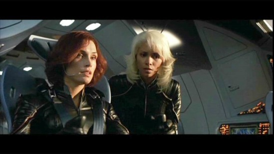 Storm and Jean in the X-Jet