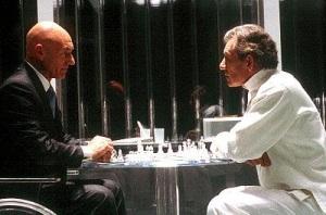 Magneto / Xavier - plastic prison chess