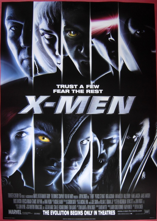 X-Men movie poster (Trust a Few, Fear the Rest)