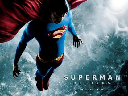Superman Returns - savior poster