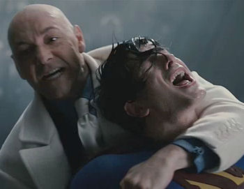 Lex Luthor - stabbing Supes from behind...