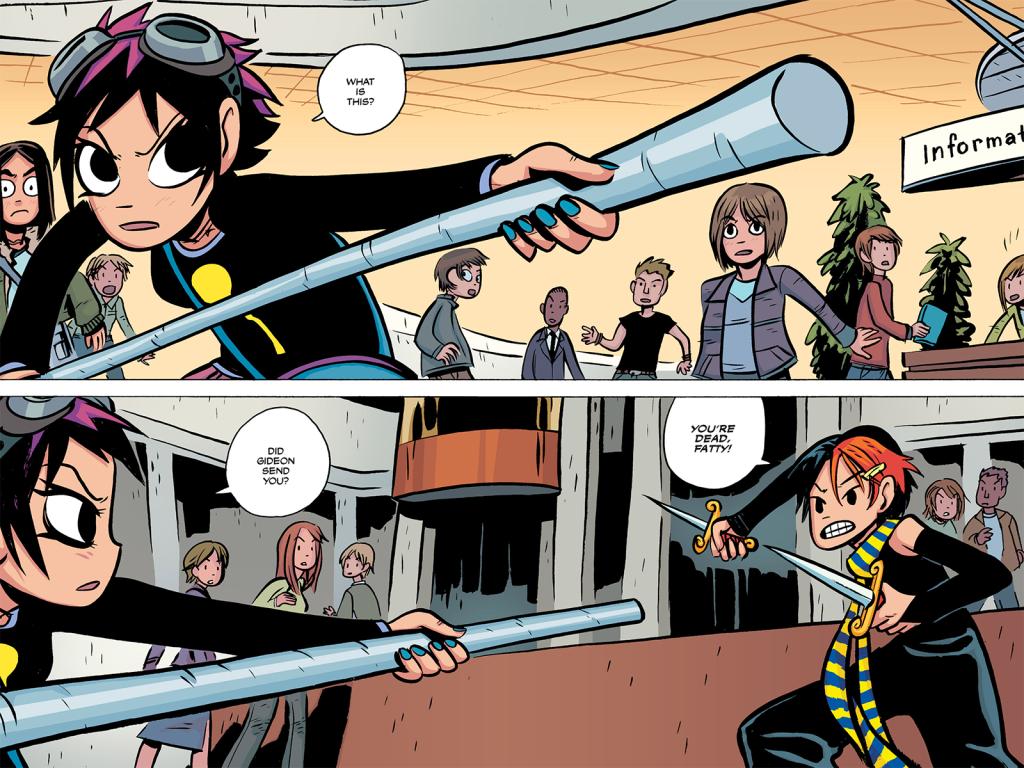 Comic panel of Ramona and Envy